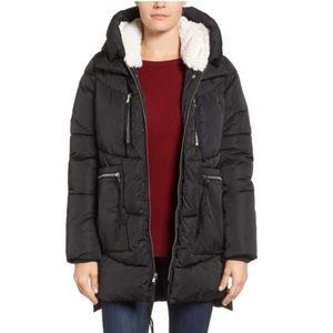 Steve Madden Hooded Puffer Jacket